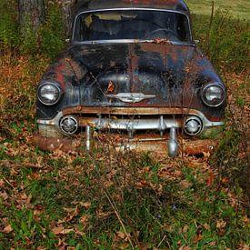 Rusty Old Chevrolet sur lieve maréchal