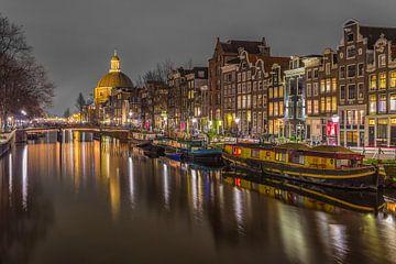 Singel in Amsterdam in de avond - 4 von Tux Photography
