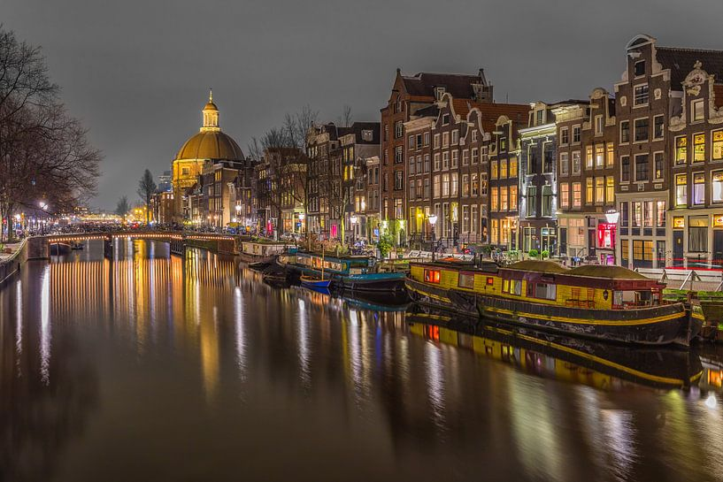 Singel in Amsterdam in de avond - 4 van Tux Photography
