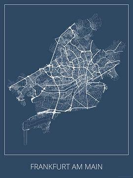 Frankfurt am Main, blauw van Geodat