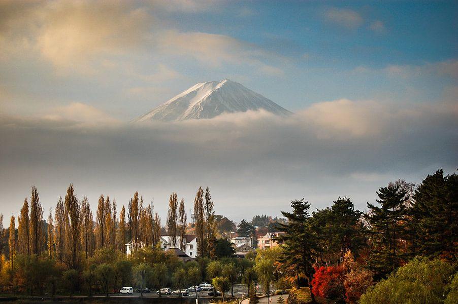 Berg Fuji in de ochtend