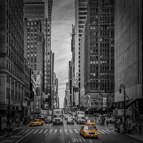 NEW YORK CITY Verkehr auf der 7th Avenue