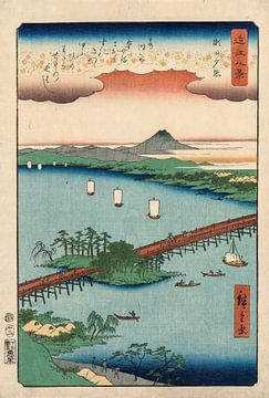 Utagawa Hiroshige. Evening Glow bij Seta
