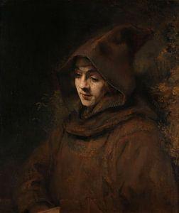 Rembrandts zoon Titus in monniksdracht, Rembrandt Harmensz. van Rijn