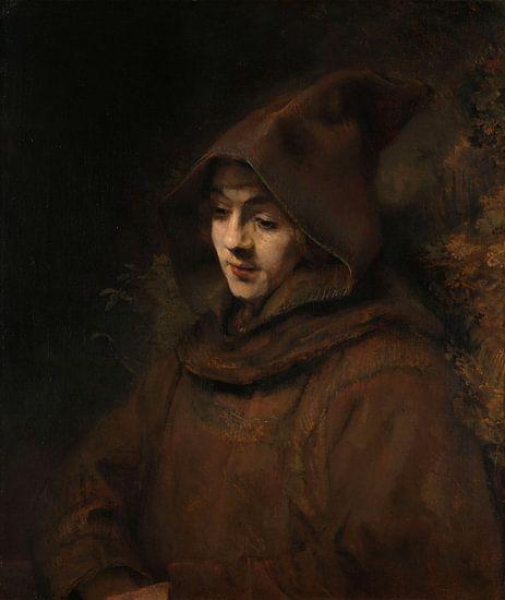 Rembrandts zoon Titus in monniksdracht, Rembrandt Harmensz. van Rijn van Rembrandt van Rijn