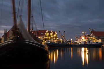 Haven van Oudeschild op Texel. Harbor of Oudeschild, Texel.