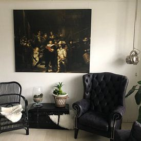 Photo de nos clients: The Night Watch, Rembrandt van Rijn sur Rembrandt van Rijn, sur toile