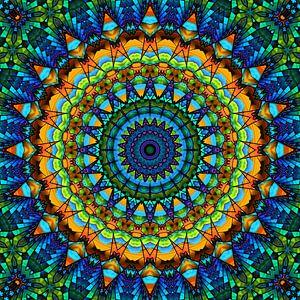 Mandala kleurrijk schil