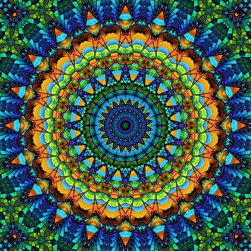 Mandala Lebensfreude bunt von Marion Tenbergen