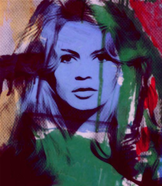 Brigitte Bardot - Modern Art van Felix von Altersheim