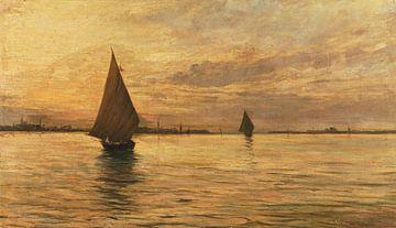 Segelt auf dem Meer, Pietro Fragiacomo