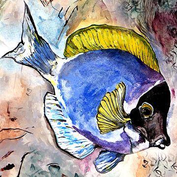 Fisch mit gelber Flosse von Kay Weber