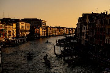 Het Canal Grande tijdens het gouden uurtje