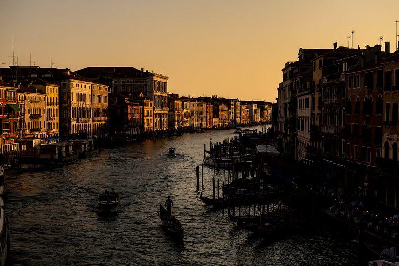 Het Canal Grande tijdens het gouden uurtje van Damien Franscoise