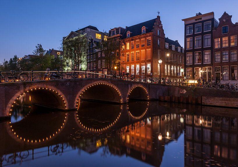 Amsterdamse grachtenpanden van Wim Slootweg