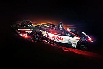 Rinus VeeKay Indy 500 von Nylz Race Art