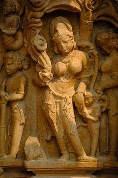 Detail eines Kamasutra-Tempels in Indien von Karel Ham
