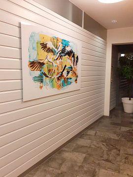 Kundenfoto: ooievaars, acryl illustratie von Ariadna de Raadt