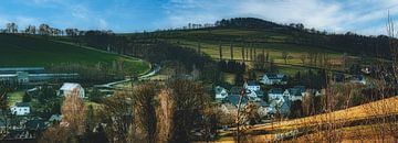 Panorama von Drebach / Erzgebirge von Johnny Flash