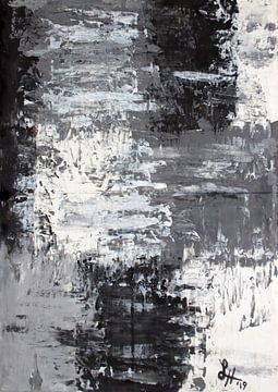 Vierkante IV in zwart-wit van elha-Art