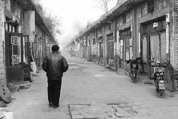 Einsamer Wanderer China von Inge Hogenbijl