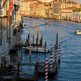 Verticaal uitzicht vanaf Ponte dell'Accademia in Venetie van Remco Swiers