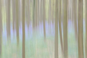 Sprookjesachtig blauw bos van Barbara Brolsma