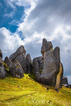Eindrucksvoller Burgberg, Neuseeland von Rietje Bulthuis