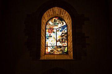 raam kathedraal in cefalu van Eric van Nieuwland