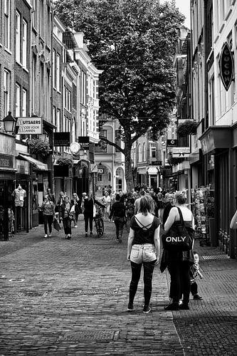 Straatbeeld in de Choorstraat in Utrecht