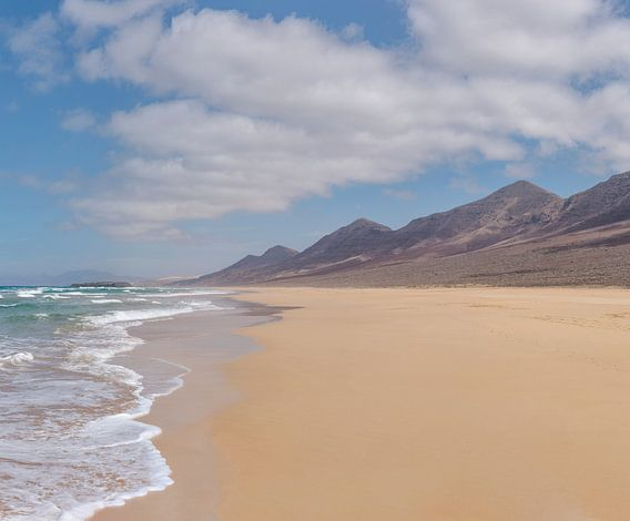 Playa de Cofete, Parque Natural de Jandia, Cofete, Fuerteventura, Canary Islands, Spanje van Rene van der Meer