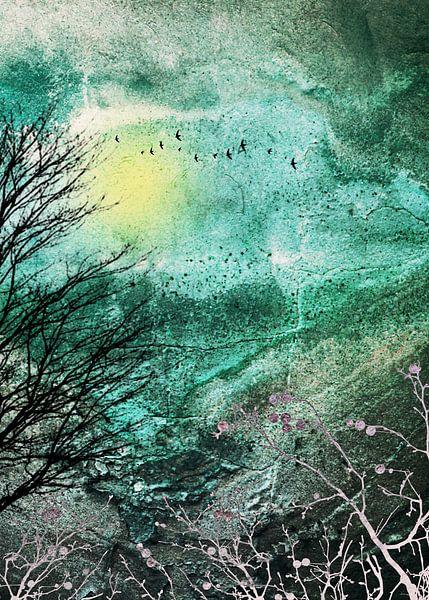 TREES under MAGIC SKY I-A van Pia Schneider