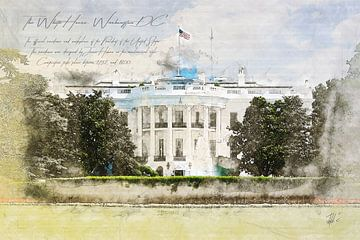 Witte Huis, Washington DC van Theodor Decker