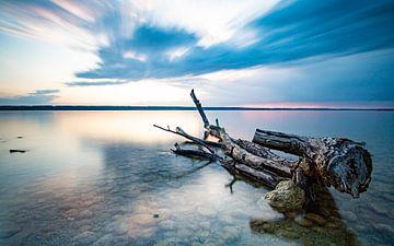 Zonsondergang aan het meer van Eduard Martin