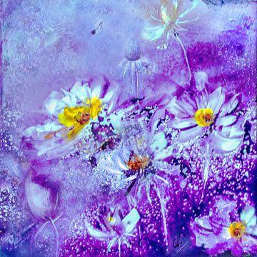 Abstracte bloemen II van Christine Nöhmeier
