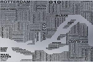 Kaart van Rotterdam  van Districto Prints