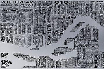Karte von Rotterdam von Stef Van Campen