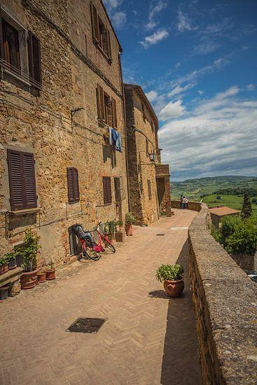 Uitzicht in Pienza, Toscane