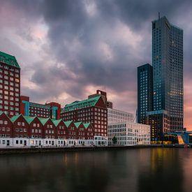 Zonsondergang Spoorweghaven Rotterdam van Patrick Rodink