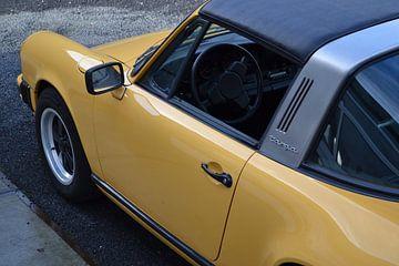 Porsche 911 Targa in geel van Rick Wolterink