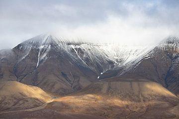 Verschneite Berge in Spitzbergen von Michèle Huge