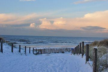Avond aan de Noordzeekust von Fred van den Brink
