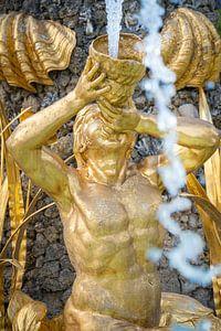 Prachtige gouden fontein beelden uit de Griekse Mythologie van Fotografiecor .nl