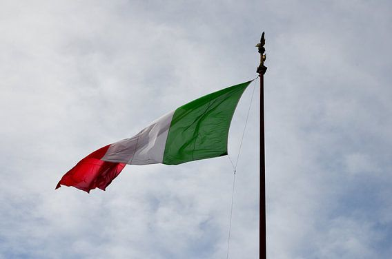 Italian flag van Jaco Verheul