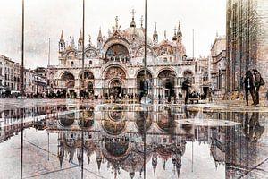 San Marco plein reflectie van De Afrika Specialist