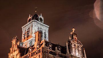 Photo de détail de l'ancienne mairie de Delft sur Michael Fousert