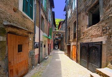Street in Italy van Brian Morgan