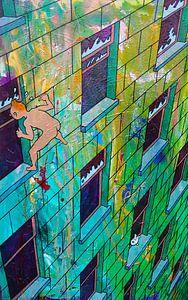 Tintin gefangen von Frans Mandigers