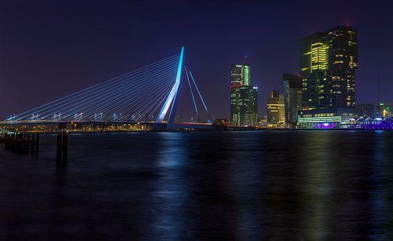 Skyline Rotterdam van Peter Bolman