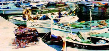 Vissershaven Toulon van Frans Jonker